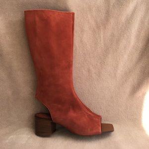 Zara Botin open toe boots. Very rare!